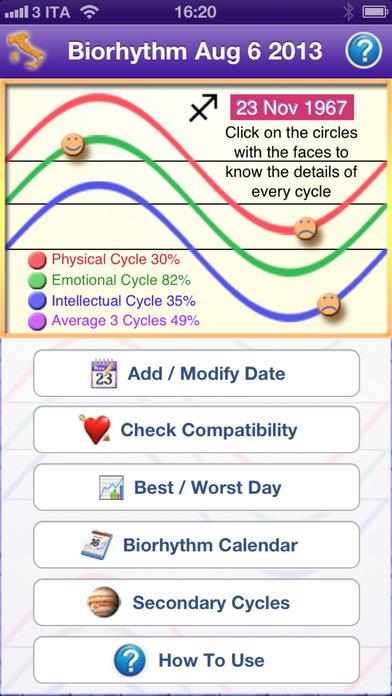 Biorhythmus Pro Maß Rhythmus des Lebens Screenshot