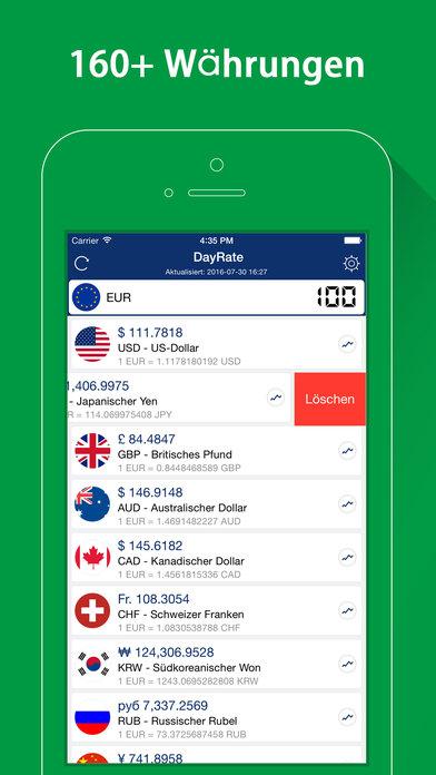 DayRate Pro - Währungsrechner, Einheitenrechner Screenshot