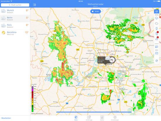 Niederschlagsradar - Vorhersage Regen und Wetter Screenshots