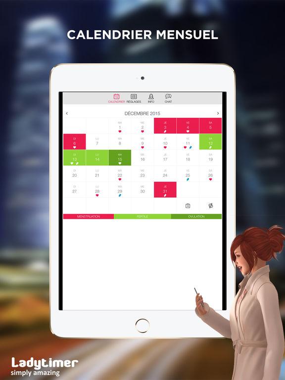 ladytimer calendrier d 39 ovulation journal des r gles gratuit dans l app store. Black Bedroom Furniture Sets. Home Design Ideas