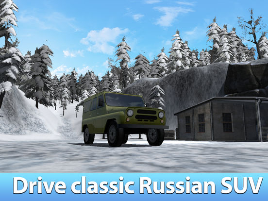 Winter Offroad UAZ Simulator 3D Full - Drive the Russian truck! Screenshots