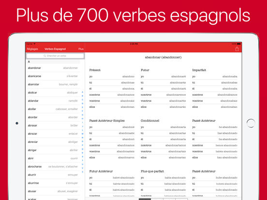 verbes espagnol dans l app store. Black Bedroom Furniture Sets. Home Design Ideas