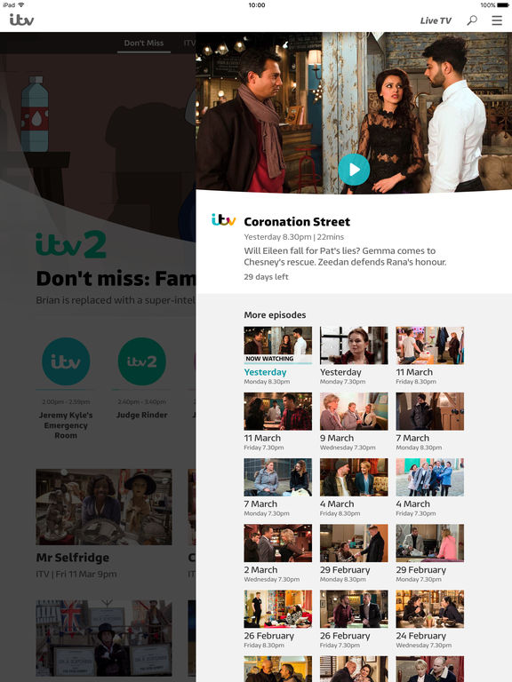 ITV Hub Screenshots