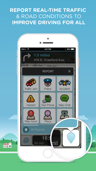 Waze Social Gps Maps Amp Traffic On The App Store On Itunes