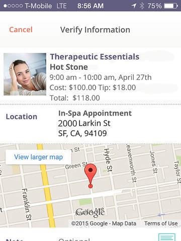 Screenshots for Unwind Massage