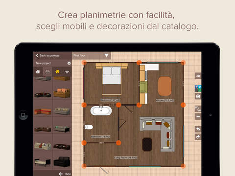 Planner 5d home design crea planimetrie interior - Planner bagno 3d ...