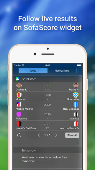 SofaScore Live sports results amp scores football  : screen322x572 from itunes.apple.com size 322 x 572 jpeg 50kB
