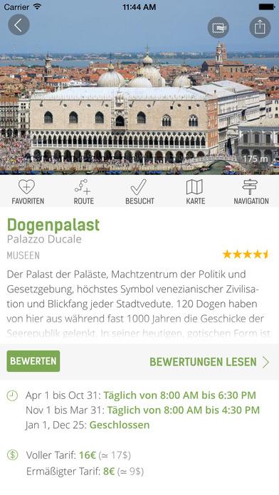 Venedig Reiseführer (Offline Stadtplan) - mTrip Screenshots
