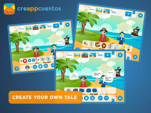 Screenshot - CreAPPcuentos - Use Funny Stickers  and  Create Tales or Stories for Kids
