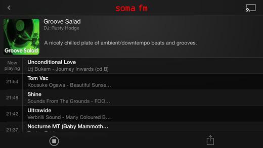 SomaFM Radio Player Screenshot