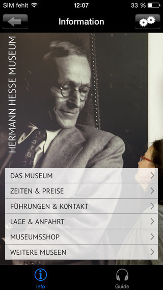 Hermann Hesse Museum Calw Screenshot