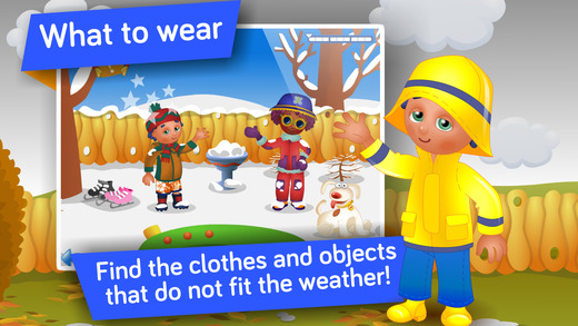 Seasons and Weather ! - Wissenschaftsspiele für Kinder im Vorschul- und Kindergartenalter Screenshot