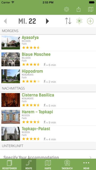 Istanbul Reiseführer (Offline Stadtplan) - mTrip Screenshots