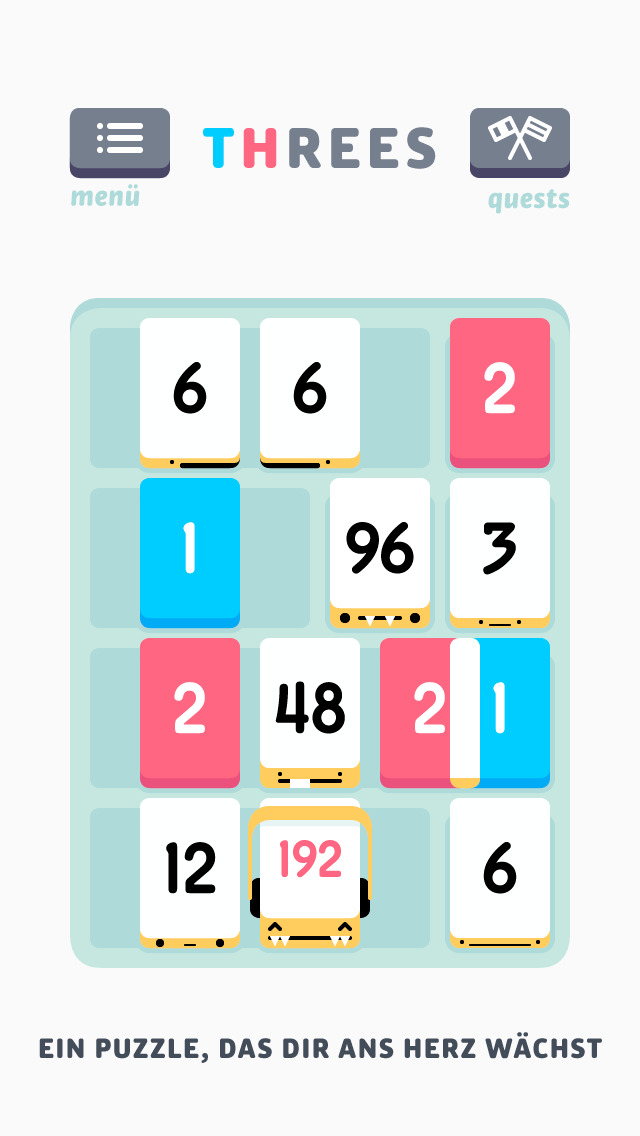 Threes! iOS Screenshots
