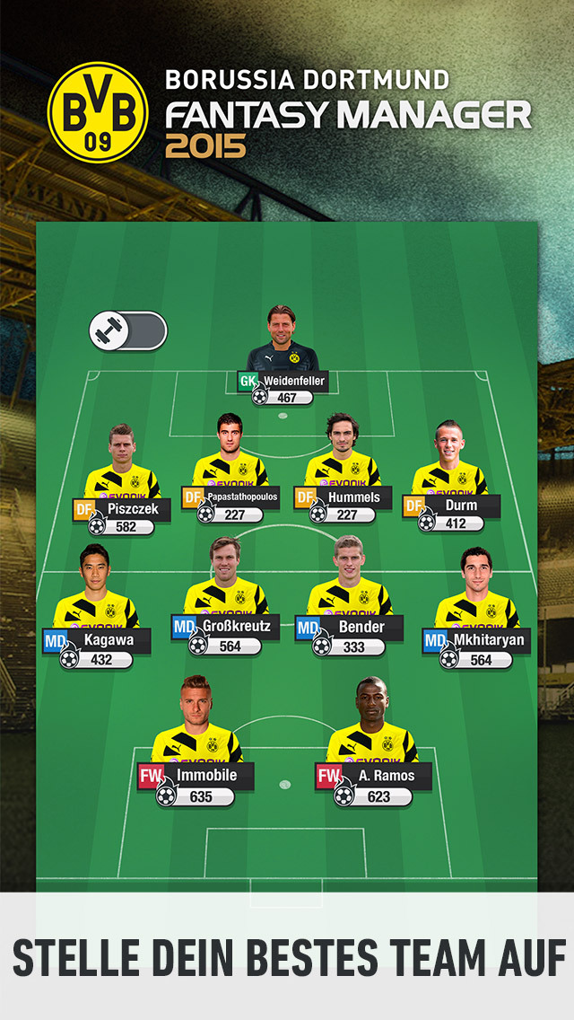 BVB Fantasy Manager 2017 iOS Screenshots