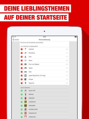 BILD fürs iPad - Nachrichten Screenshots