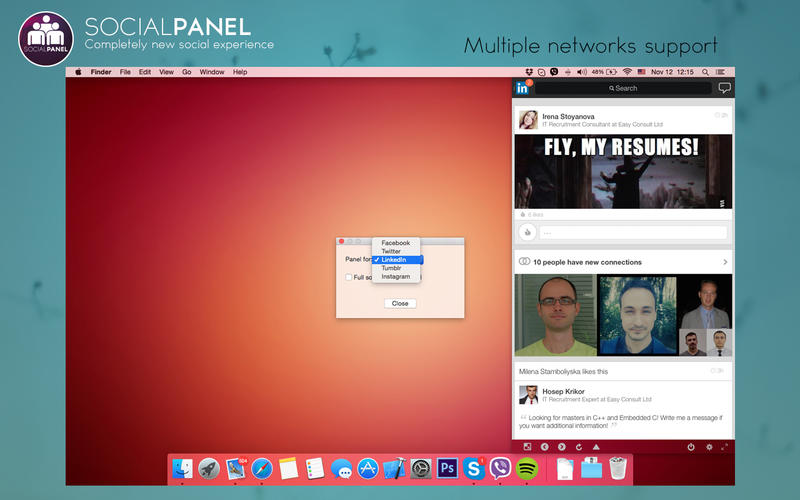 SocialPanel Screenshots