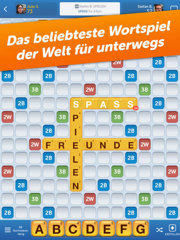 Wortspaß mit Freunden (Words With Friends) iPhone