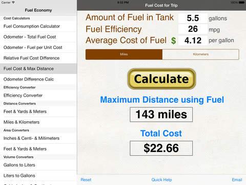 fuel calc mpg l100k car economy calculator app insight download. Black Bedroom Furniture Sets. Home Design Ideas