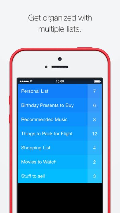 Clear - Tâches et listes de choses à faire Capture d'écran