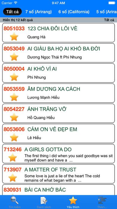 download VNKaraoke Pro - Tra cứu mã số karaoke 7, 6, 5 số Arirang, MusicCore, ViTek, Sơn Ca, Việt KTV apps 0
