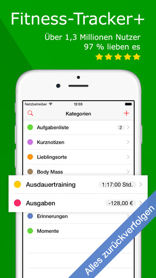 Fitness-Tracker+ iOS kostenlos