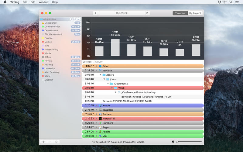 Timing Automatic Time Tracker Screenshots