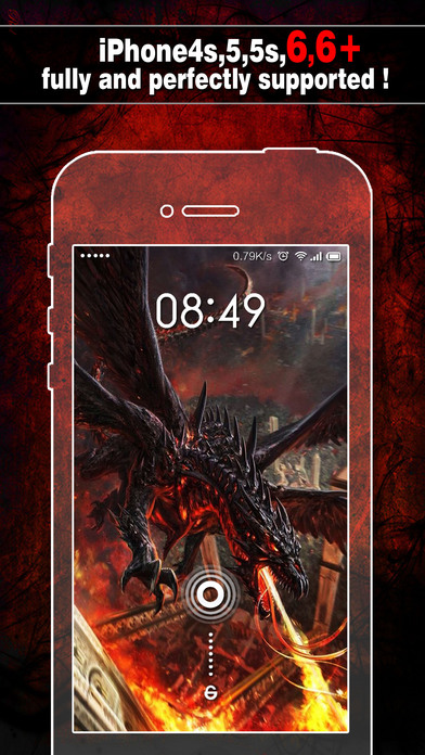 download Dragon Wallpapers, Backgrounds & Themes - Home Screen Maker with Cool HD Dragon Pics for iOS 8 & iPhone 6 apps 0