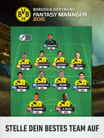 Screenshot 1 BVB Fantasy Manager 2017