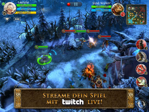 Heroes of Order & Chaos iPhone iPad Twitch Update