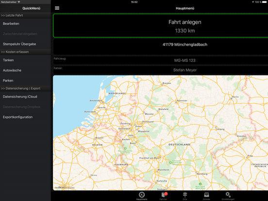 Fahrtenbuch Screenshot