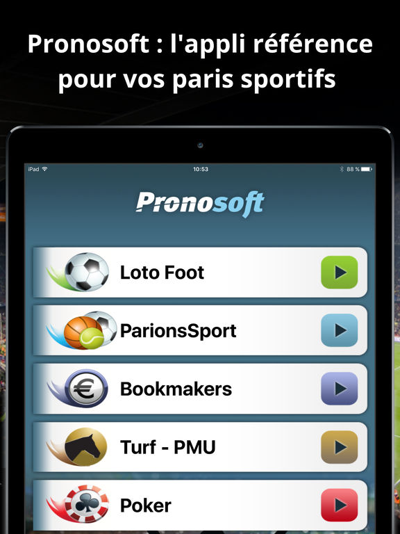 pronosoft dans l app store. Black Bedroom Furniture Sets. Home Design Ideas