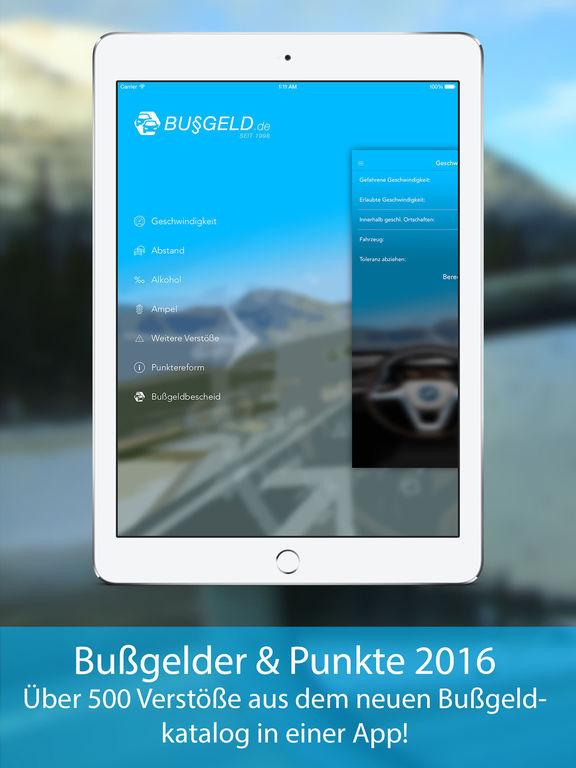 Bußgeldrechner 2016 + Bußgeldkatalog Screenshot