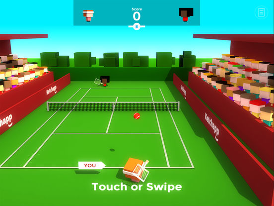Ketchapp Tennis iOS Screenshots
