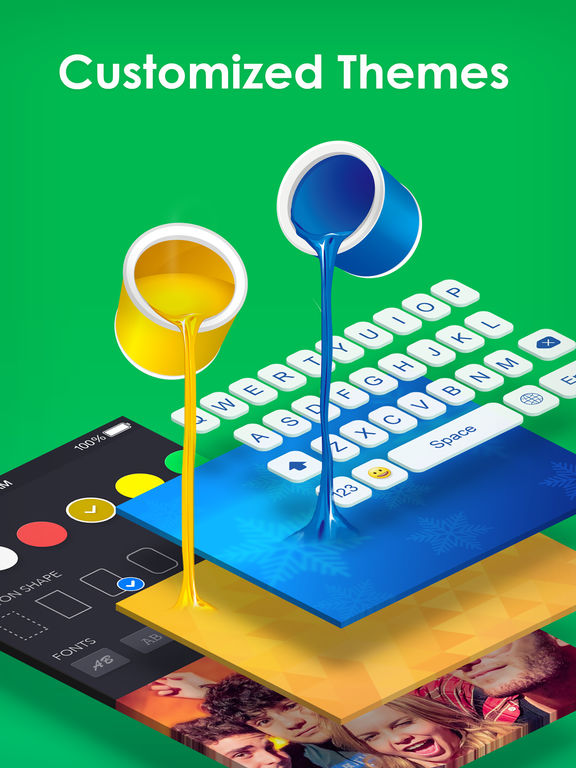 Tastiera | RainbowKey - colori per tastiera con sfondo HD Temi, bei caratteri e divertenti emoji Screenshot