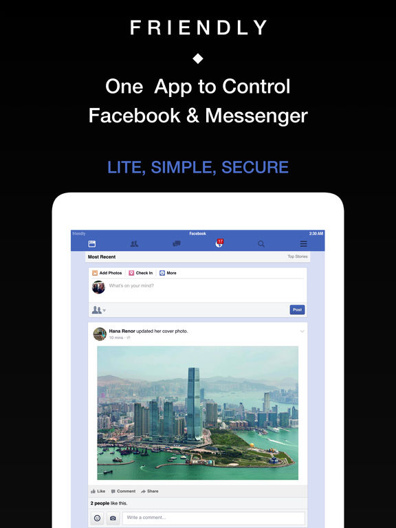 Friendly - One App for Facebook and Messenger Screenshot