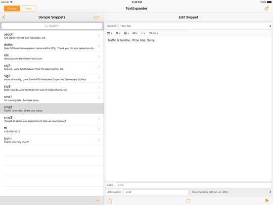 TextExpander + Keyboard Screenshot