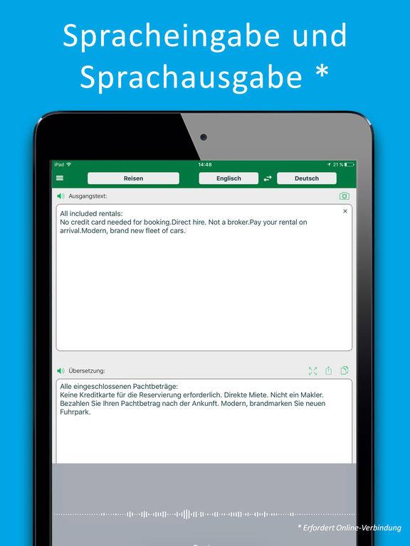 PROMT Offline-Übersetzer Englisch-Deutsch und Deutsch-Englisch. In-App-Sprachen: Französisch, Spanisch, Russisch. Inklusive Spra Screenshots