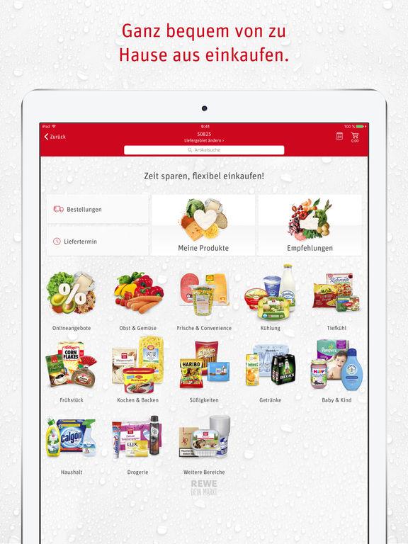 REWE Lebensmittel – Supermarkt, Lieferservice, Angebote, Filialsuche und Rezepte Screenshot
