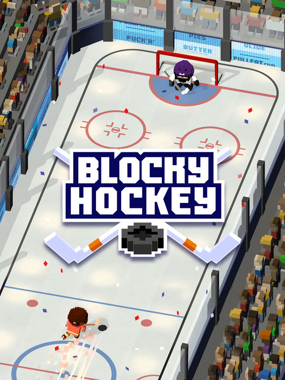 Blocky Hockey - Arcade Ice Runner iOS Screenshots