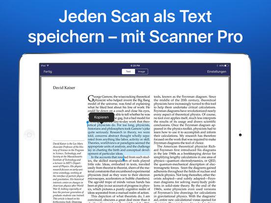 Scanner Pro – Dokumente & Rechnungen als PDF, OCR Screenshot