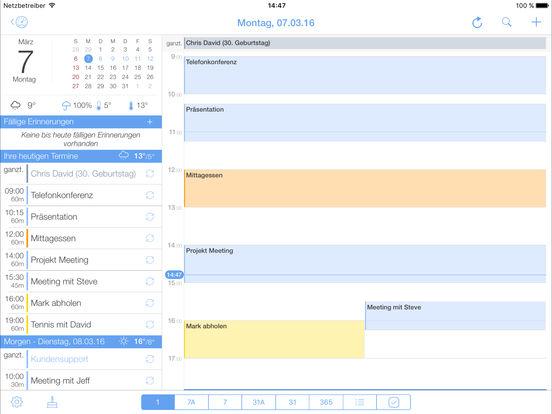 miCal - der Kalender für Termine und Erinnerungen Screenshot