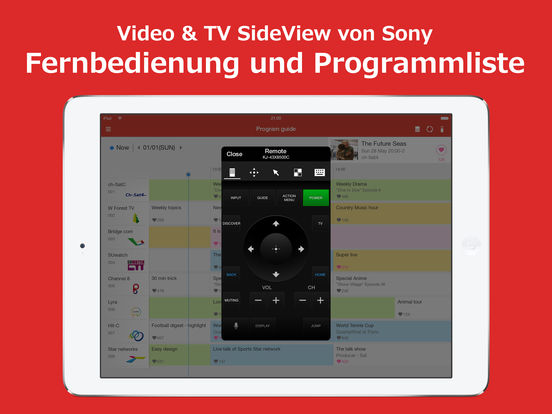 Video & TV SideView Fernbedienung Screenshot