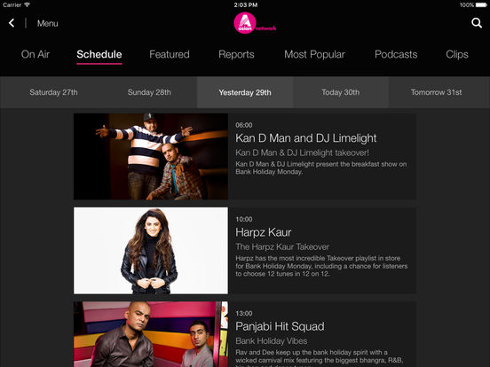 BBC iPlayer Radio Screenshots