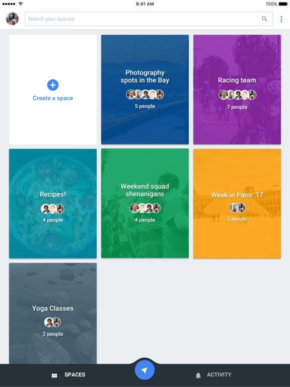 Spaces – Im engen Kreis teilen Screenshot