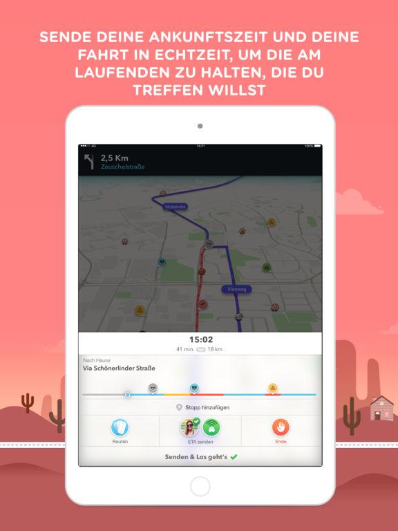 Waze - GPS, Karten & sozialer Verkehr Screenshot