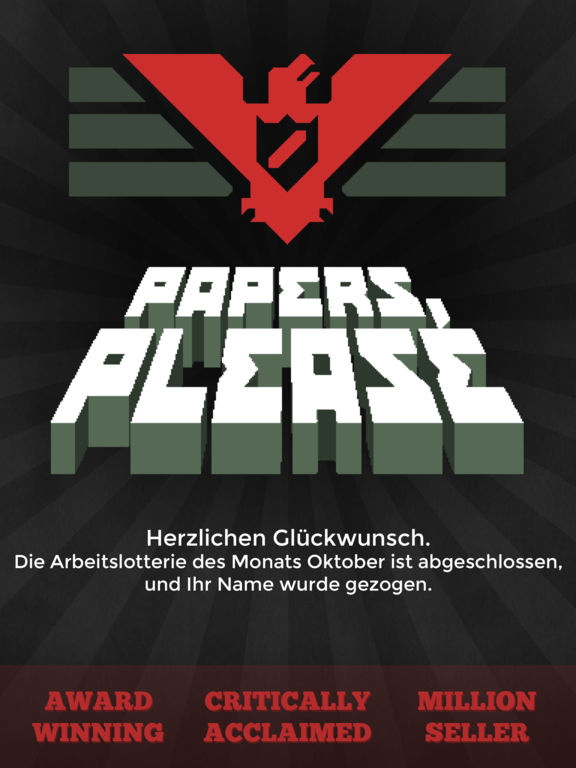 Papers, Please Screenshot