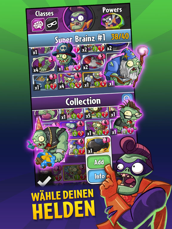 Plants vs. Zombies Heroes iPhone iPad