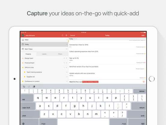 Todoist: Aufgabenliste | To-Do List Screenshot