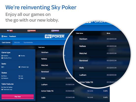 Sky poker app ipad